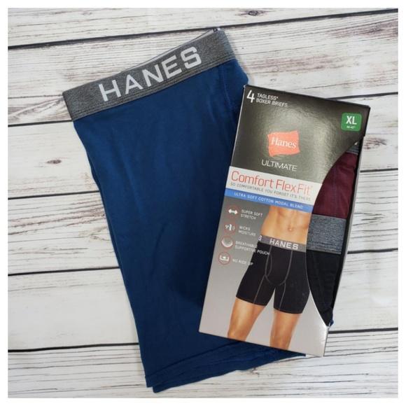 b9c52d4f5310e5 Hanes Underwear & Socks   Ultimate Boxer Brief Flexfit Sz Xl 4042 ...